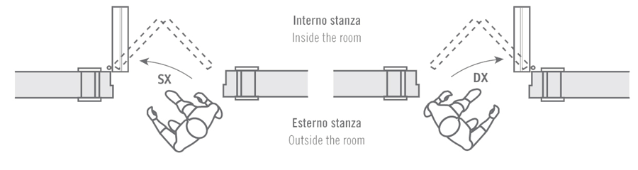 Door swing porte interne in legno geronazzo italian high quality wood doors - Costo porta a libro ...